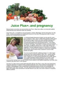 Juice Plus & Pregnancy